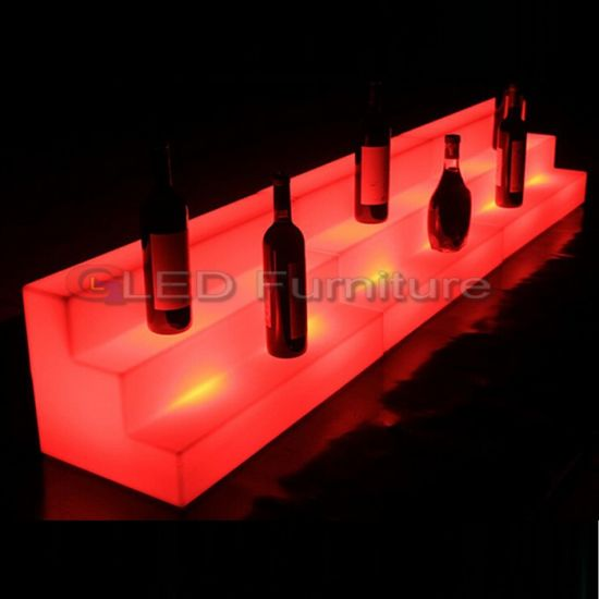 LED Nightclub Furniture LED Bottle Champagne Shelf Quality display racks pictures & photos