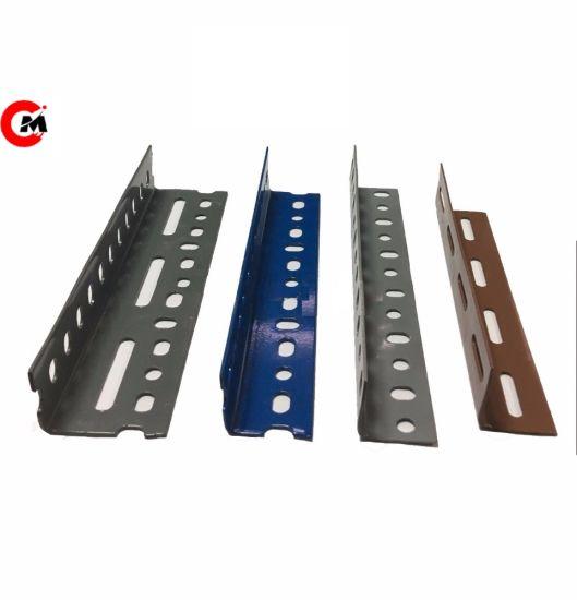 high quality shelves slot mild steel angle metal slotted angle