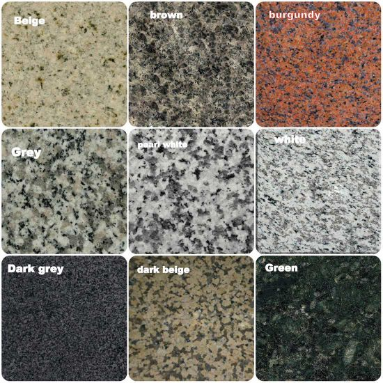 G681/G682/G603/G654/G664 China Cheap Stone Granite Slab with Dry Stone Layout
