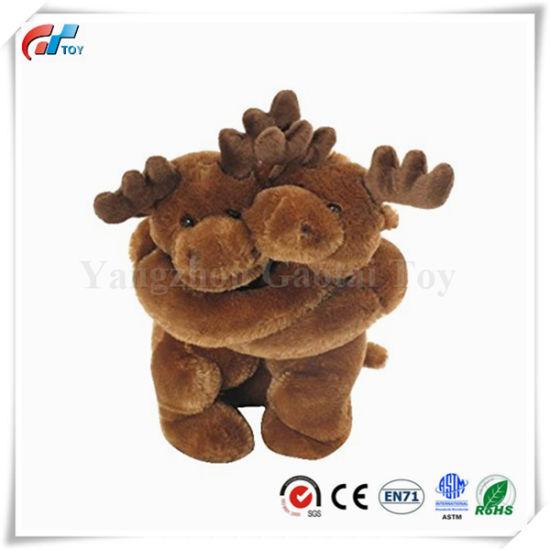 "10"" Hugging Moose Soft Plush Toy for Kids"