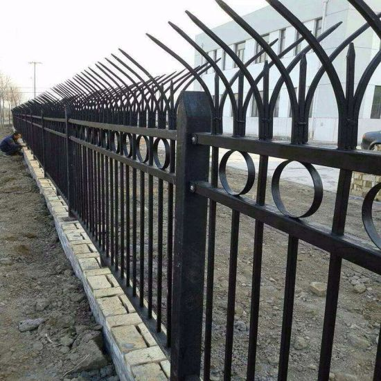 Wrought Iron Railing for Prefabrciated Steel Structure Villa