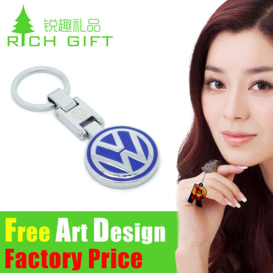 Promotional Metal/PVC Trolley Coin Keychain with Logo Custom pictures & photos