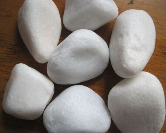 Snow White Tumble Pebbles for Landscaping Stone pictures & photos