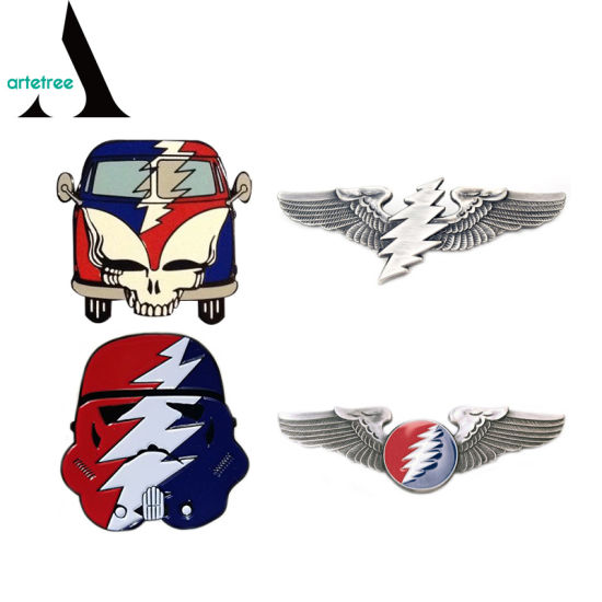 Grateful Dead Bus Wings Hat Enamel Lapel Pin Badge