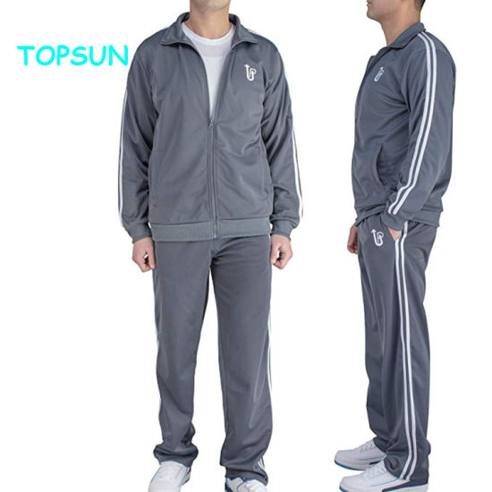 Mens Autumn Stretch Tracksuit Joggers Set Sports Wear Outerwear with Custom Logo pictures & photos