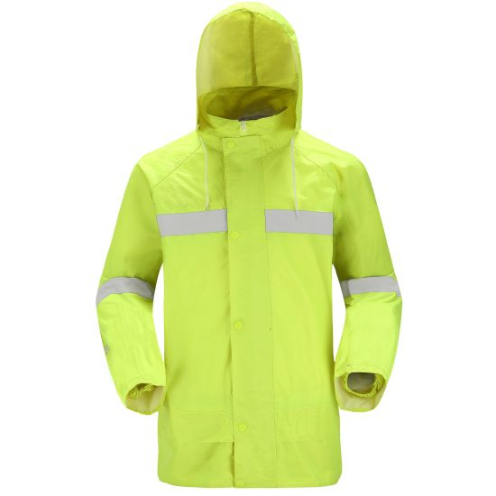 High Visibility Safety Vest Reflective Jacket Clothes Industrial Work Wear Raincoat Suit pictures & photos