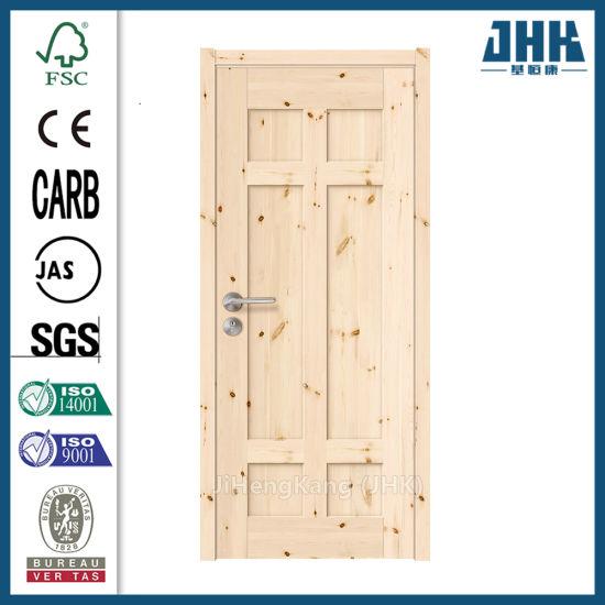 Six Panel Interior Veneer Main Shaker Pine Door Designs (JHK-SK06)