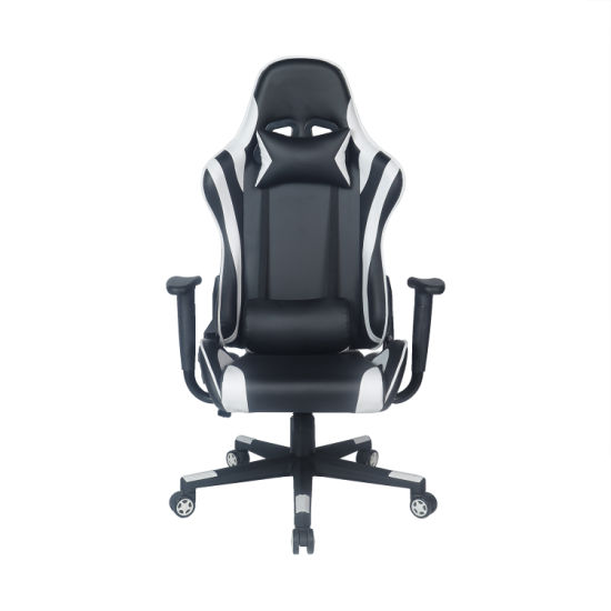 Racer Sport Gaming Chair with Lumbar Support Furniture White Gamer Chair