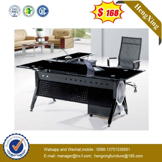 L Shape Office Lab Hotel Staff Manager Executive Tempered Gl Desk Hx Gl043 Pictures