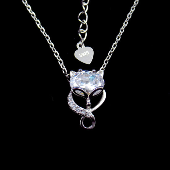 Bright Star 925 Sterling Silver Simple With A White Zircon Pendants Jewelry Gift