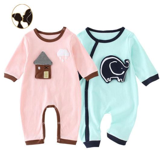2019 Top High Quality Wholesale Applique Infant Romper Baby Bodysuit