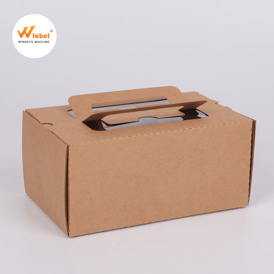 Food Grade Paper Packaging with Window Cake Box