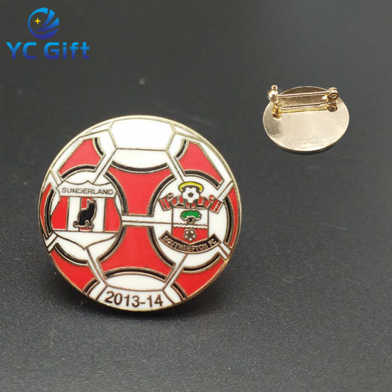 Cheap Customized Nickel Plated Soft Enamel Metal Pins with Butterfly Clasp (BG49-A)
