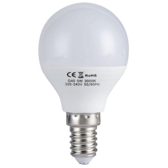 E14 and E27 G45 Golf Mini LED Bulb Lighting with Ce RoHS Certification LED Lamp