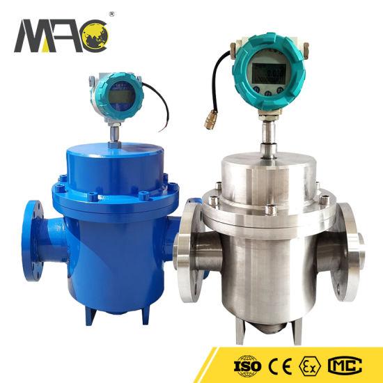 Macsensor Double Rotor Positive Displacement Crude Oil Diesel Flow Meter 15-400mm