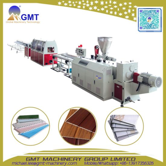 Plastic PVC Ceiling Panel Board Profile Extruder|Extrusion Making Machine Production Line