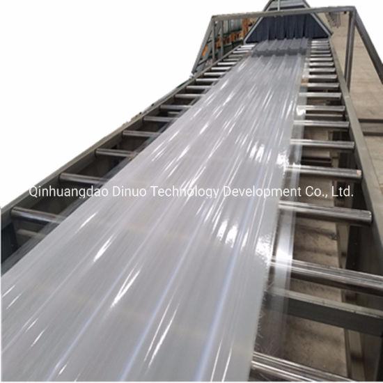 PLC Control Fiberglass Corrugated Roofing Sheet Making Machine