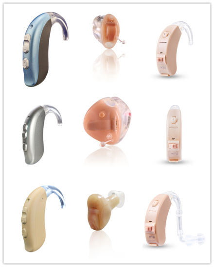 Home Care Invisible Cic Manually-Controlled Ear Hearing Aid 2 Channels pictures & photos