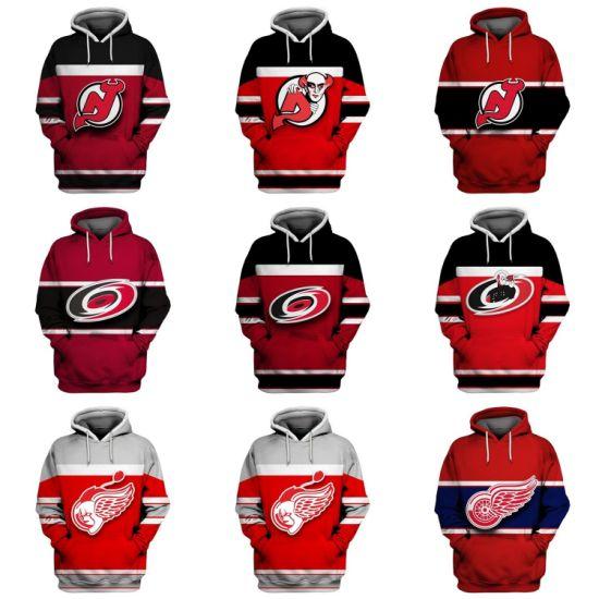 Wholesale 2019 Devils Hurricanes Red Wings Putian Sweaters Pullovers Hoodies