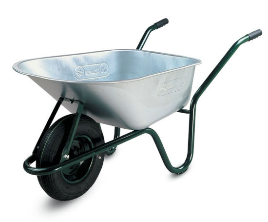 120L Limex Large Construction Galvanized Wheelbarrow with Pneumatic Wheel
