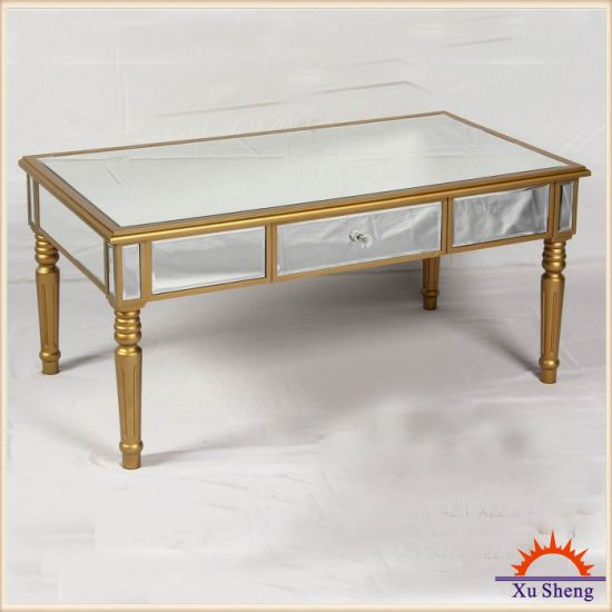 Wooden Mirrored Console Table - Champagne Gold Home Furniture pictures & photos