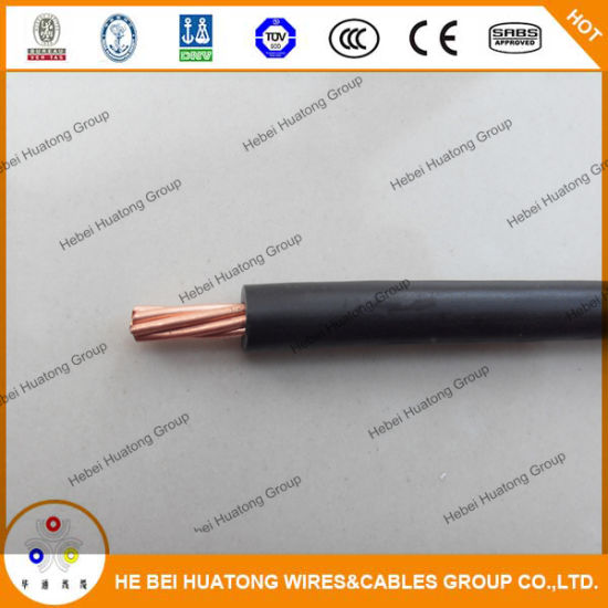China PVC Cover Copper Wire Thw/Tw AWG 14 12 10 8 6 Solid/Stranded ...