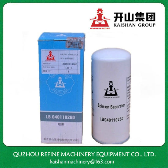Oil Separator Lb040110260 for Kaishan 15kw Compressor Maintenance pictures & photos