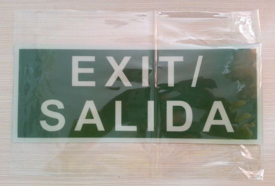 PVC Exit Sign pictures & photos