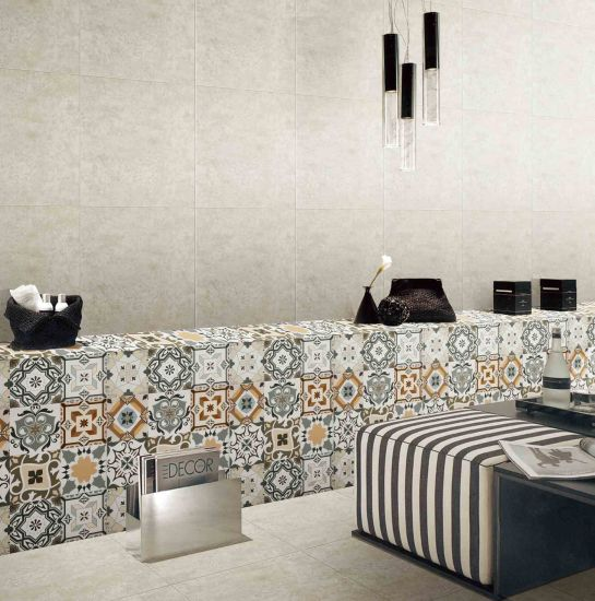Special Design Ceramic Tile Building Material Art Decoration Wall Tile For Apartment Home Spain Style 600x600mm Matt Parquet Tile