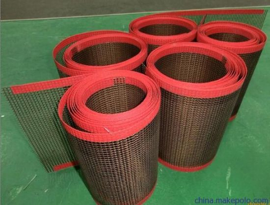 PTFE Coated Glassfiber Fabric Mesh Conveyor Belt pictures & photos