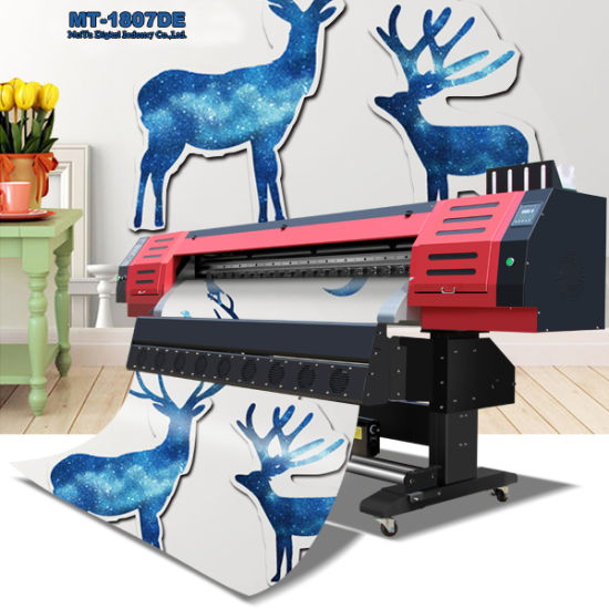 Eco Solvent Printer with Dx7 Printhead for Both Indoor and Outdoor Printing, 1440dpi