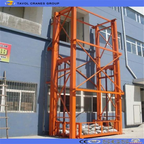 China Ce ISO Hydraulic Rail Type Goods Lift Cargo Lift pictures & photos