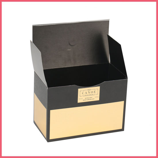 Black Card Paper Box with Printing