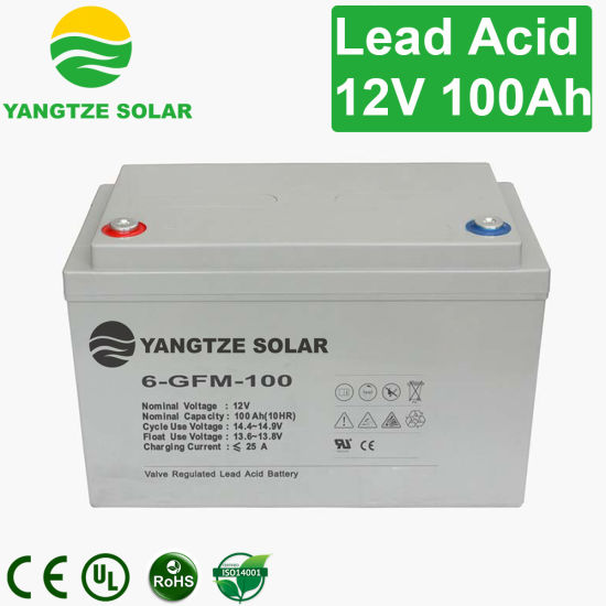 Home 12V 100ah Rechargeable Battery for LED Light pictures & photos