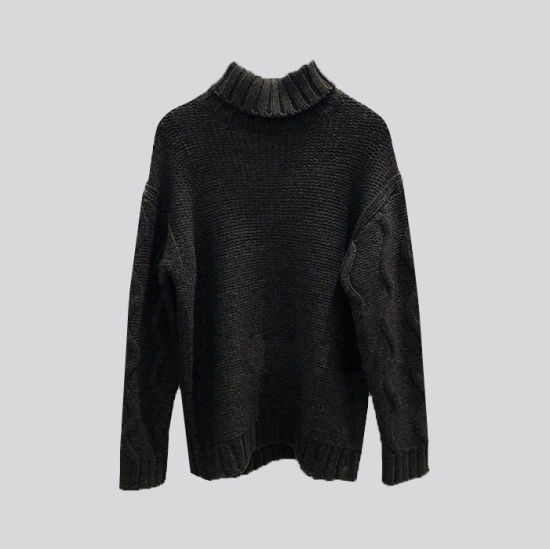 Men's Sweates Cable Parttern Long Sleeve Pullover Garments