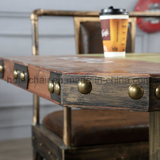 Hot Sale Antique Wooden Square Dining Coffee Table pictures & photos
