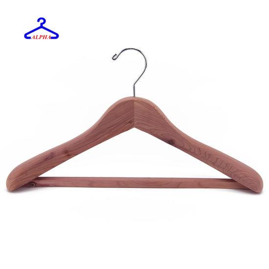 Luxury Mothproof Natural American Aromatic Cedar Garment/Coat/Shirt/Clothes/Clothing Hangers