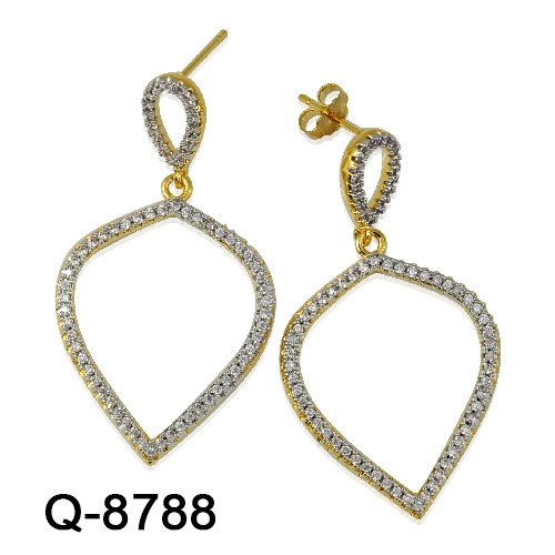 54e921153 Hotsale Handmade 925 Sterling Silver Fashion Jewelry Zircon Stone Long  Earrings for Women. Get Latest Price