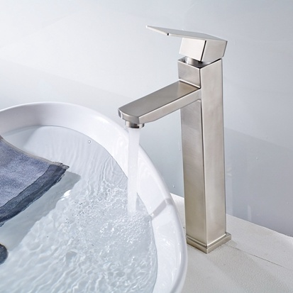 Flg Basin Faucet Deck Mounted 304 Stainless Steel Sink Faucet