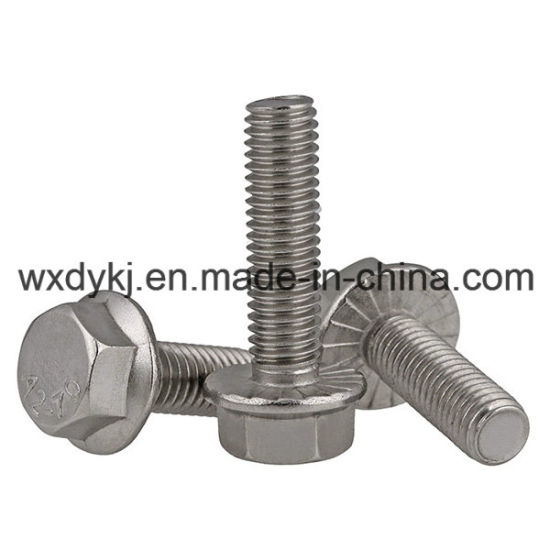 DIN 6921 Hexagon Flange Bolt Made of Stainless Steel