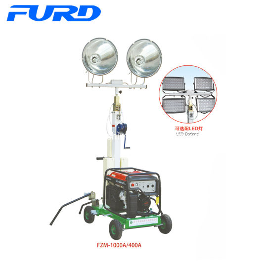 China 5kw Telescopic Small Portable Light Tower with Diesel