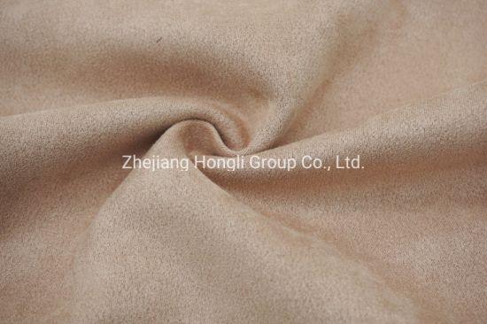 Mircofiber Knitting Suede Garment Fabric Four Way Spandex Fabric 92%Polyester 8%Spandex