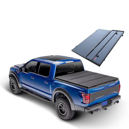 """Hard Tri-Fold Truck Bed Tonneau Cover Fits 2019-2020 Chevy Silverado/Gmc Sierra 5′ 8"""" Bed (New Body Style) Made in China"""
