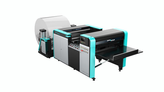 Hamburger Paper Food Paper Sillcone Oil Coated Paper Reel to Sheets Cutting Machine High Speed Mutli-Roll Loading as Optional