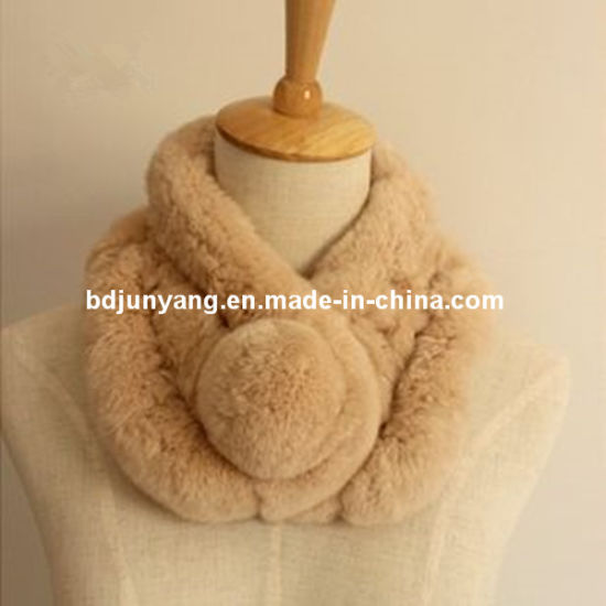Fake Fur Scarf Wholesale, Rex Rabbit Fur pictures & photos