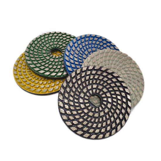 4 Inch Concrete Floor Diamond Velcro Metal Polishing Pad