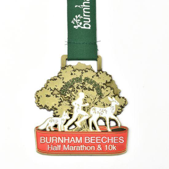 High Quality Custom Half Marathon Metal Medal 3D Sport Running Medal
