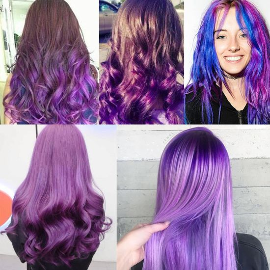 China Purple Hair Wax Pomades 4 23 Oz Natural Hair Coloring Wax Material Disposable Hair Styling Clays Ash For Cosplay China Hair Wax And Hair Spray Price