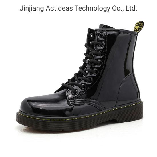 Custom Leather Waterproof Wear-Resist Rubber Outsole Men Boots