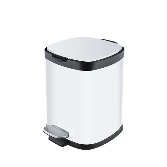 China White 6l 12l 20l 30l Pedal Kitchen Trash Can Metal Stainless Steel Hotel Bathroom Trash Can China Kitchen Trash Can And Stainless Steel Trash Can Price